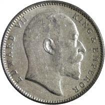 India 1 Rupee Edward VII King and Emperor