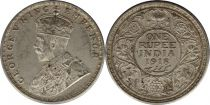 India 1 Rupee Georges V King and Emperor - 1918