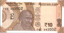 India 10 Rupees, Mahatma Gandhi - 2017 (2018)