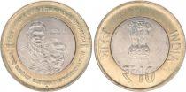 India 10 Rupees Gandhi - 2015