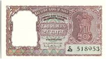 India 2 Rupees, Ashoka Column - Tiger -  - 1962-67  - P.30