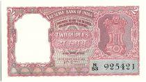 India 2 Rupees, Ashoka Column - Tiger - 1957-62  - P.29 b