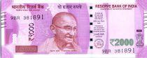 India 2000 Rupees, Mahatma Gandhi - Satelite 2016 Série 9BR