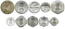 India SET.1 Set of 10 coins 0.01 to 2 Rupees