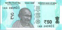 Indien 50 Rupees, Mahatma Gandhi - Hampi 2017 Serial 1AQ