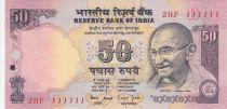 Indien 50 Rupees ND1997 - Gandhi - Serial E - Number 111111