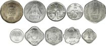 Indien SET.1 Set of 10 coins 0.01 to 2 Rupees