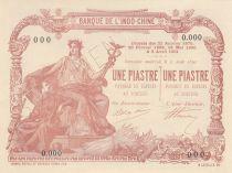 Indo-Chine Fr. 1 Piastre - 1 Piastre - 1901 - Spécimen - P.neuf