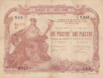 Indo-Chine Fr. 1 Piastre - 1 Piastre Saigon - 1909-1921 - Série V.940 - TTB