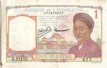 Indo-Chine Fr. 1 Piastre, Laotienne - 1946 - P.54 c