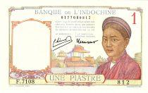 Indo-Chine Fr. 1 Piastre, Laotienne - 1946 - P.54 d