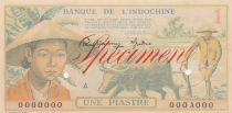Indo-Chine Fr. 1 Piastre 1949 - 000A000 - Spécimen - SPL