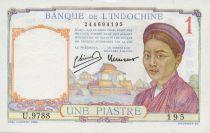 Indo-Chine Fr. 1 Piastre Femme - ND (1946) - SUP