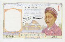 Indo-Chine Fr. 1 Piastre Femme - ND (1949) - SUP