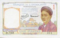 Indo-Chine Fr. 1 Piastre Femme - ND (1949) - TTB