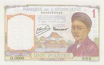 Indo-Chine Fr. 1 Piastre Laotienne - ND (1946) - Spécimen