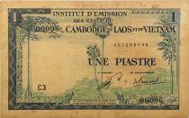 Indo-Chine Fr. 1 Piastre ND (1954) - émission pour le Laos - TB