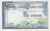 Indo-Chine Fr. 1 Piastre ND (1954) - émission pour le Vietnam - SUP Série M.36