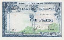 Indo-Chine Fr. 1 Piastre ND (1954) - émission pour le Vietnam - SUP Série Y.50