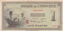 Indo-Chine Fr. 1 Piastre Pêcheurs - 1945 Série E