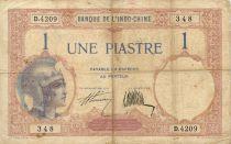 Indo-Chine Fr. 1 Piastre Walhain - 1927 Série D.4209 - PTB