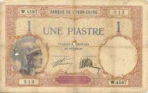 Indo-Chine Fr. 1 Piastre Walhain - 1927 Série W.4587 - PTB