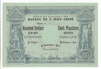 Indo-Chine Fr. 100 Dollars - 100 Piastres - Spécimen 1875 - Série A.0 - SUP