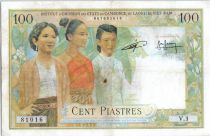 Indo-Chine Fr. 100 Piastres  3 Femmes - Temple d\' Angkor - 1954