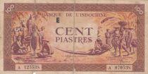 Indo-Chine Fr. 100 Piastres Marché - 1942 - Lettre E - A 070538