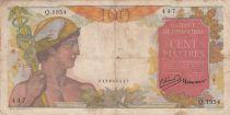 Indo-Chine Fr. 100 Piastres Mercure ND 1949 - Série Q.1954
