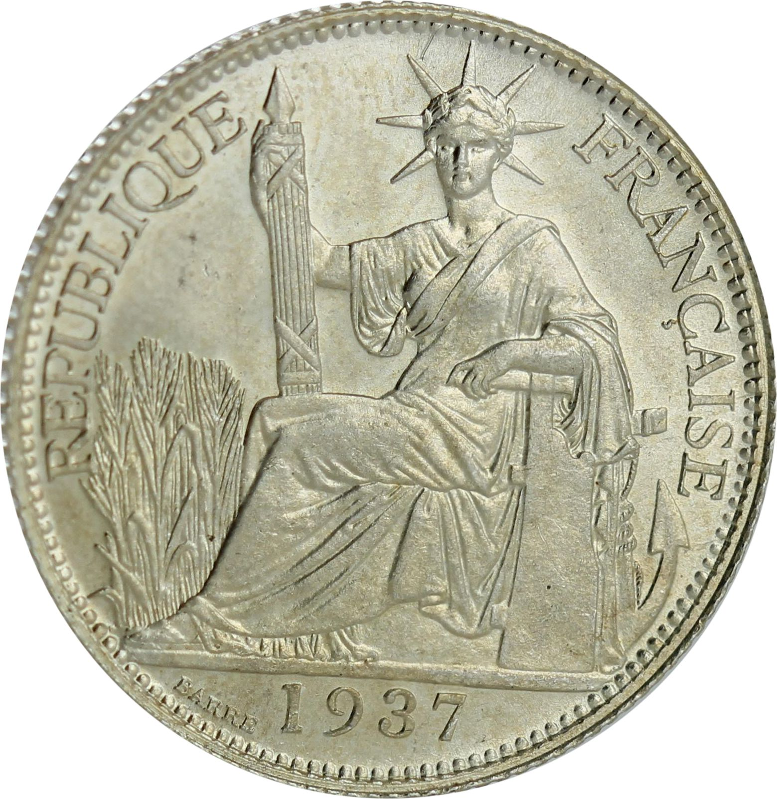 Indo-Chine Fr. 20 Centimes 1937 - SPL