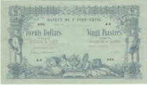 Indo-Chine Fr. 20 Dollars - 20 Piastres - Spécimen 1876 - Série A.0 - TTB+ / P.SUP