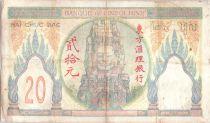 Indo-Chine Fr. 20 Piastres Ruines d\'Angkor - 1928