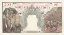 Indo-Chine Fr. 200 Piastres Eléphant - Bao Dai - Spécimen - p.Neuf