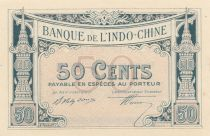 Indo-Chine Fr. 50 Cents - 1919 - Impression Banque Chaix - Epreuve Bleu - p.Neuf