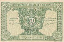 Indo-Chine Fr. 50 Cents ND (1942) - Série CS 244.687 - TTB