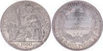 Indo-Chine Fr. Indo-Chine Française 1 Piastre, Liberté assise - 1900 A