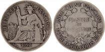 Indo-Chine Fr. Indo-Chine Française 1 Piastre Liberté assise - 1898 A