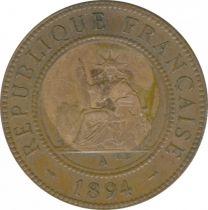 Indo-Chine Française 1 Cent Liberté assise - Indo-Chine 1894 A Paris