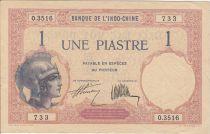 Indo-Chine Française 1 Piastre Walhain - 1927 Série O.3516