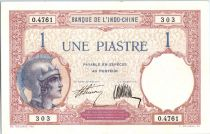 Indo-Chine Française 1 Piastre Walhain - 1927 Série O.4761