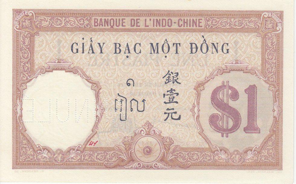 Indo-Chine Française 1 Piastre Walhain - 1927 Spécimen O.0000 Caissier 41