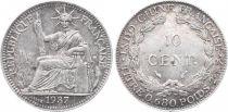 Indo-Chine Française 10 Cents République et Laurier - 1937