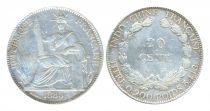 Indo-Chine Française 20 Cents Liberté assise - Indo-Chine 1885 A Paris
