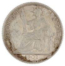 Indo-Chine Française 20 Cents Liberté assise - Indo-Chine 1902 A Paris