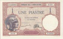 Indochina Francesa 1 Piastre Helmeted woman - 1921 Specimen O.0000 Cashier 69