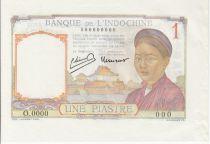 Indochina Francesa 1 Piastre Mujer - Templo - 1949 Prueba Espécimen