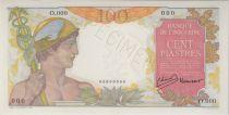 Indochina Francesa 100 Piastres ND1949 Mercure, Specimen - PCGS AU 58