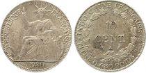 Indochina Französin 10 Cents Woman with laurel - A-Paris - 1930