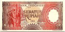 Indonesia 100 Rupiah - 1964 - UNC - Serial YPW - P.97